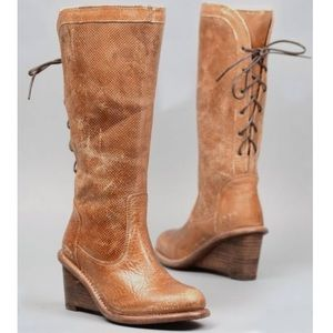 New in box, Bed Stu empress leather lace up boots